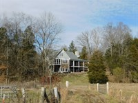 Farm TN 5 Br Home, Fencing : Olivehill : Hardin County : Tennessee
