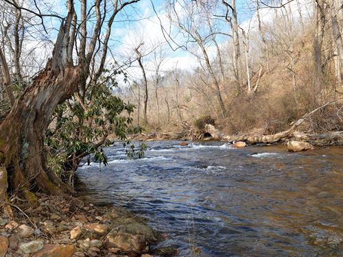 Land on Mitchell River in Dobson : Dobson : Surry County : North Carolina