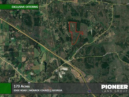 173 Acres Edge Road : Forsyth : Monroe County : Georgia