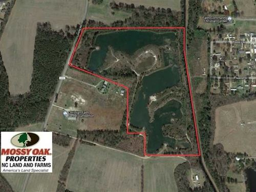 Under Contract, 46 Acres of Recre : Lumberton : Robeson County : North Carolina