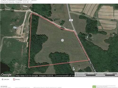 13.5 Acre Land Tract, Red Oak : Red Oak : Charlotte County : Virginia