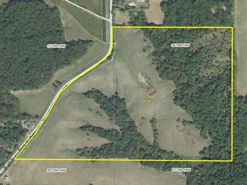 60 Acre Hunting Farm Van Buren Cou : Douds : Van Buren County : Iowa