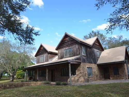 54 Acre Ranch Pool Home Arcadia : Arcadia : Desoto County : Florida