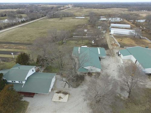 160 Acres With Home And Barns For : Oswego : Labette County : Kansas