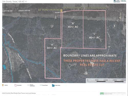 Rusk County Recreational Property : Laneville : Rusk County : Texas