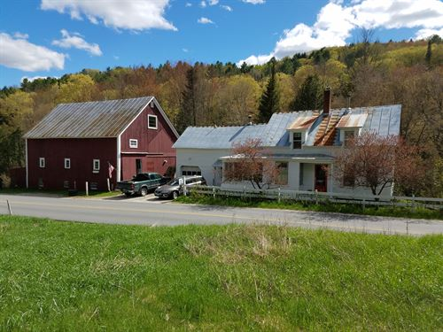 Classic Mini Farm, River Frontage : Topsham : Orange County : Vermont
