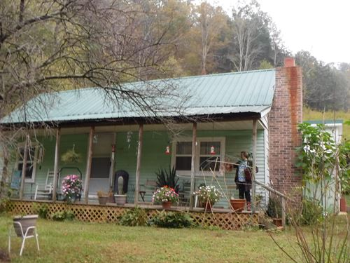 87+ Acres, Pond, Creek, Farm Home : Whitleyville : Jackson County : Tennessee
