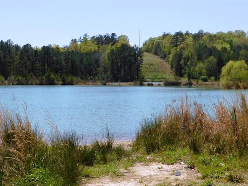 33.5 Acres With 30 Acre Lake : Talladega : Alabama
