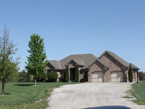 Executive Ranch Home 20 Acres : Cameron : Clinton County : Missouri