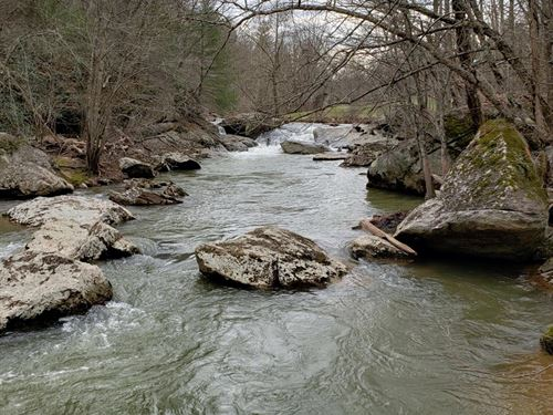 Trout Stream Frontage View Blue : Fries : Grayson County : Virginia
