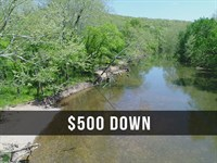 $500 Down On 10.07 Acres River Land : Lebanon : Dallas County : Missouri