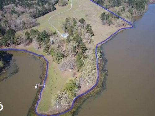 Private 30-Acre Waterfront, Over : Douglas : Nacogdoches County : Texas