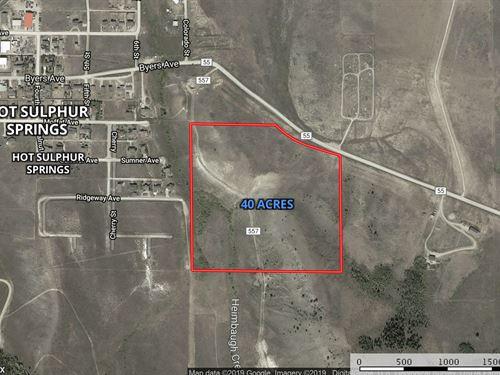 Zoned Ag Low Taxes no Building : Hot Sulphur Springs : Grand County : Colorado