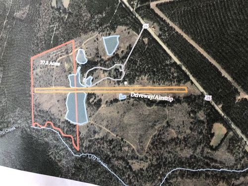 Beautiful 40 Acre Home Site : Edgefield : South Carolina