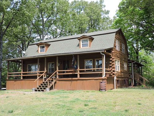 Mountain Property Log Home Acreage : Harrison : Boone County : Arkansas