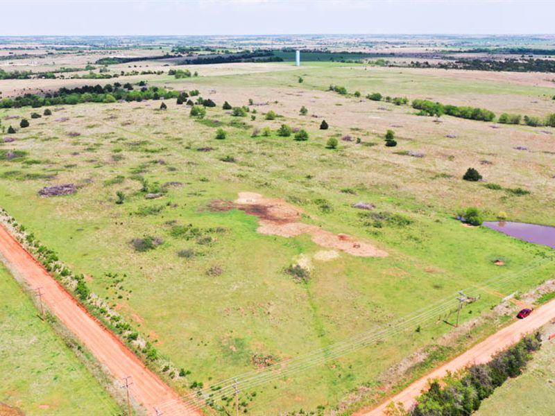 160 Acres Grass Pasture & Ponds : Ranch Auction : Mulhall