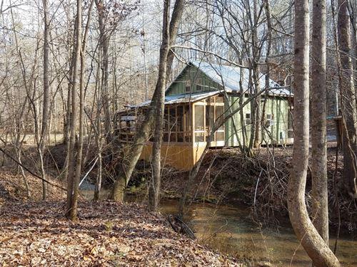Fern Valley Creekside Getaway : Ashland : Clay County : Alabama