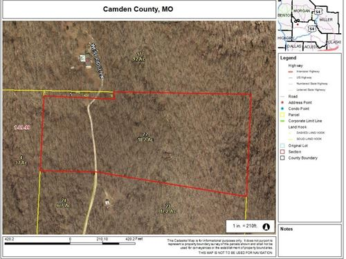 18 Wooded Ozark Acres : Climax Springs : Camden County : Missouri