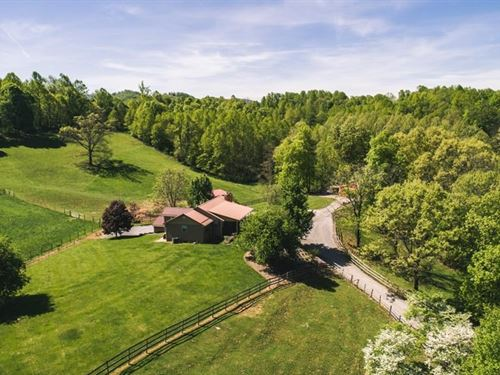 Updated Ranch Home Views Acreage : Abingdon : Washington County : Virginia