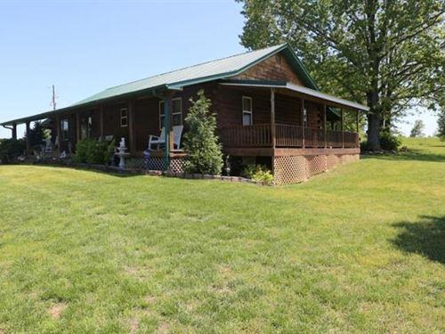 Custom Log Home 20 Acres Heart : West Plains : Howell County : Missouri