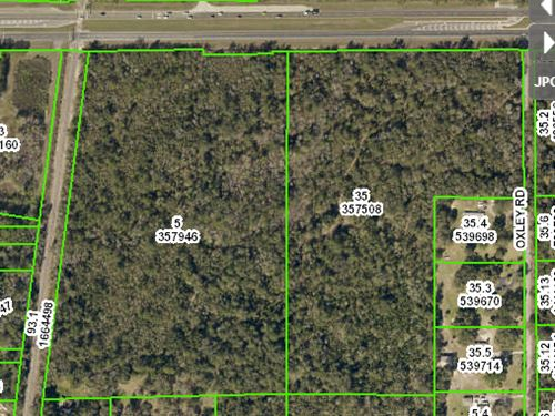 52 Acres Commercial Zoned : Brooksville : Hernando County : Florida