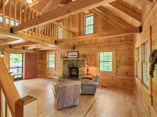Cabin Acreage, Private Creek Pond : Ennice : Alleghany County : North Carolina