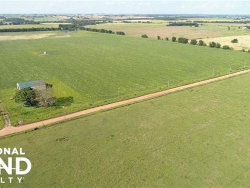 Farm Ground With Morton Barn : Council Hill : Muskogee County : Oklahoma