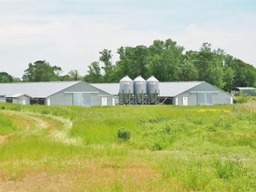 8 House Broiler Poultry Farm For Sa : Lena : Leake County : Mississippi
