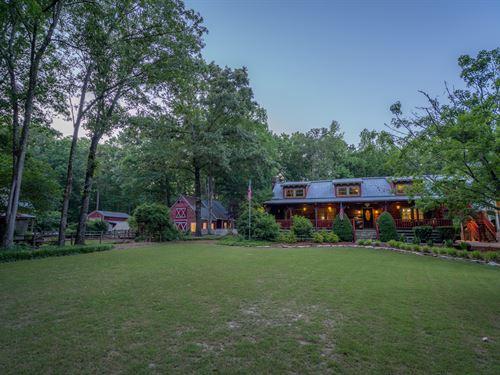 Cabin, Barn & Pool On 13+ Acres : Loganville : Walton County : Georgia