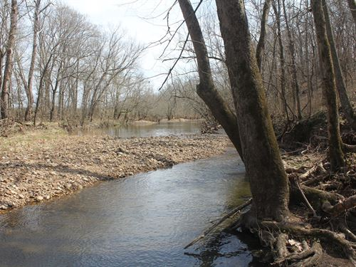 70 Acres Brush Creek Frontage : Humansville : Polk County : Missouri