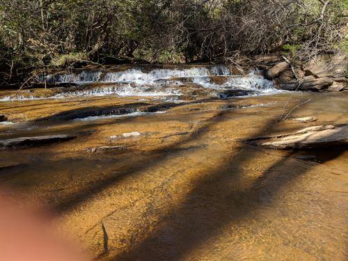 45+/- Acres With Waterfall : Ashland : Clay County : Alabama