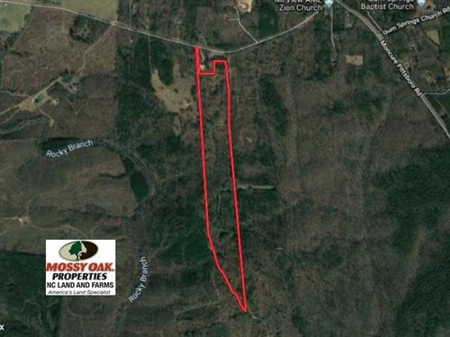 55 Acres of Residential And Recrea : Moncure : Chatham County : North Carolina