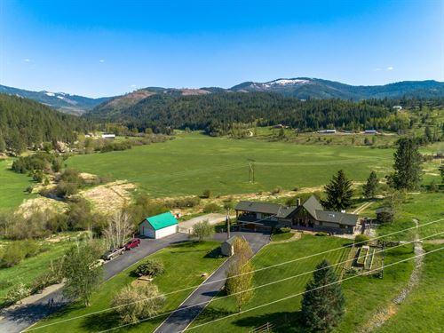 Idaho Horse Ranch Hunting Fishing : Medimont : Kootenai County : Idaho