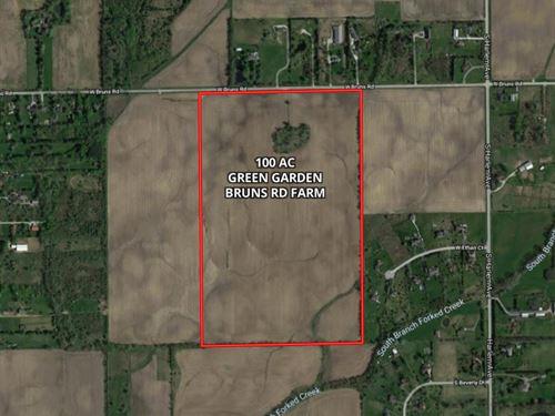 100 Ac Green Garden Twp, Farm : Monee : Will County : Illinois
