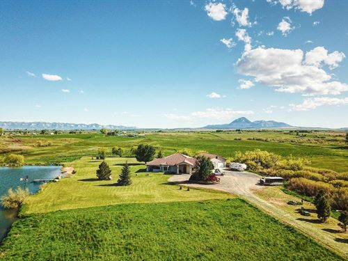 Luxury Home, Private Lake & Acreage : Lewis : Montezuma County : Colorado