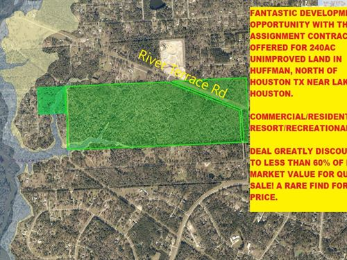 240Ac Land Greatly Discounted Tx : Huffman : Harris County : Texas