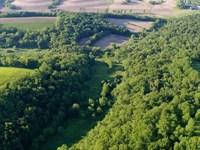 Creek Bottom Valleys & High Ridges : Blanchardville : Iowa County : Wisconsin