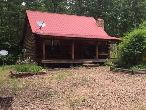Arkansas Log Cabin On 20 Acres : Leslie : Searcy County : Arkansas