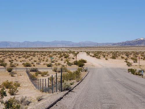 Beautiful Acreage With Easy Access : Newberry Springs : San Bernardino County : California