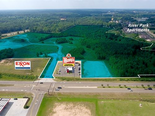 57 Acres Fully Ent Retail, Op Zone : McComb : Pike County : Mississippi
