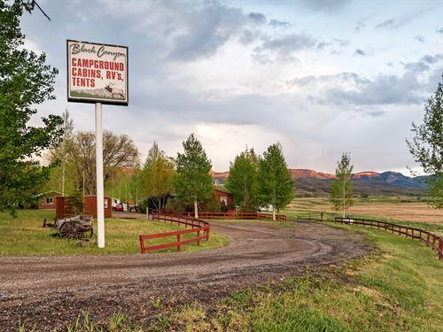 Black Canyon RV Park And Campground : Cimarron : Gunnison County : Colorado