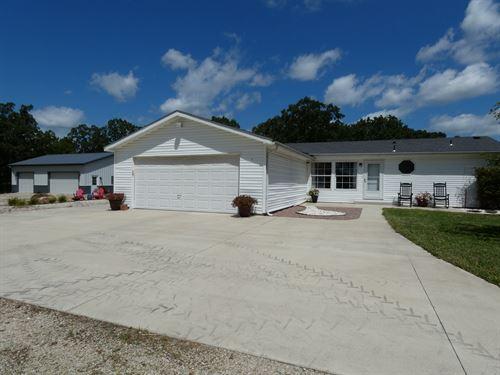 Home & Acreage, Shop & Pool : Hermann : Gasconade County : Missouri