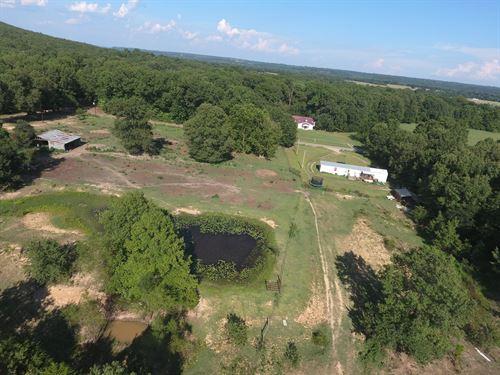 Oklahoma Hunting Property House : Webbers Falls : Muskogee County : Oklahoma
