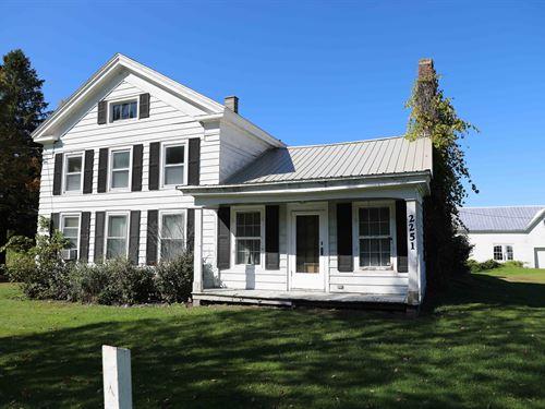 Rich Land On Large Acre Mini Farm : Hamilton : Madison County : New York