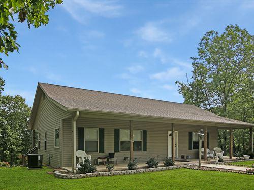 Custom Home, Live Water, Shop : Mountain Grove : Wright County : Missouri