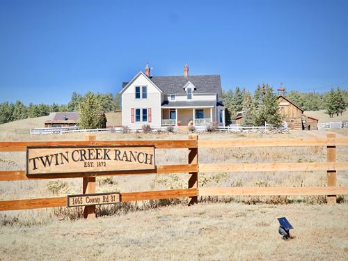 The Historic Twin Creek Ranch : Florissant : Teller County : Colorado