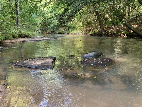 Timber, Creek Frontage, Shoals : Good Hope : Walton County : Georgia