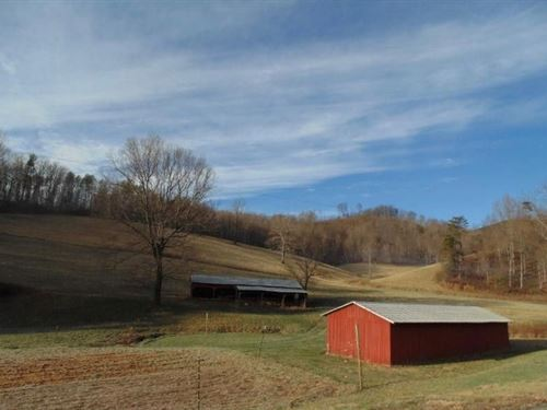 Farm Land With Barn Woolwine VA : Woolwine : Patrick County : Virginia