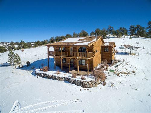 Log Home Hunting Property Central : Hartsel : Park County : Colorado