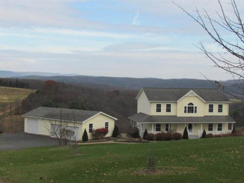 16 +/- Acres, Home With Views : Benton : Columbia County : Pennsylvania